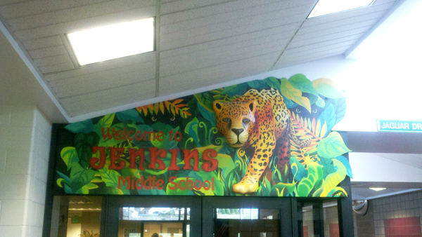 Jenkins Middle School mural on Big Ideas Math blog