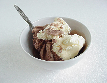 bowl of ice cream